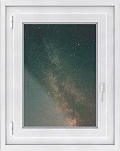 Fensteraufkleber - dekorative Fenster-Folie | Sichtschutzfolie für Fenster im Badezimmer und WC - hochwertiges Fensterbild | einfach anzubringen - DIY | Fensterfolie 50 x 70 cm - Motiv Stars