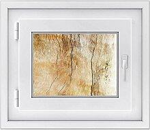 Fensteraufkleber - dekorative Fenster-Folie | Sichtschutzfolie für Fenster im Badezimmer und WC - hochwertiges Fensterbild | einfach anzubringen - DIY | Fensterfolie 40 x 30 cm - Design Unterholz