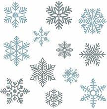 Fensteraufkleber Schneeflocke Stickerscape