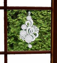Fensterbild 17x28 cm + Saugnapf Plauener Spitze ®