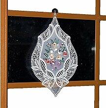 Fensterbild 26x40 cm Plauener Spitze Voile