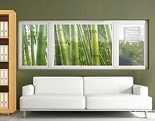 Fensterbild Bamboo Trees No.2 Bambus Pflanze Blatt Baum Natur Fenstersticker Fensterfolie Fensteraufkleber Fenstertattoo Glas-Sticker Fensterdeko Fensterdekoration Größe: 108cm x 210cm