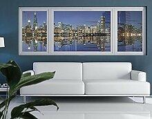 Fensterbild Chicago Reflection Amerika Nacht