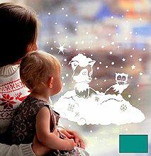 Fensterbild Fensterdeko Winterbild Winter Fuchs
