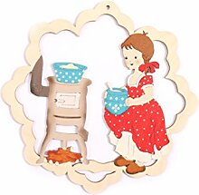 Fensterbild Frühling Mädchen kocht- beidseitig
