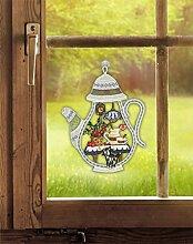 Fensterbild Kaffeekanne 22 x 29 cm (BxH) echte