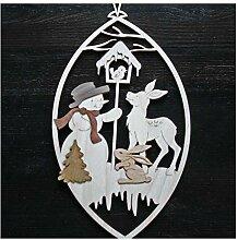 Fensterbild Original Erzgebirge Weihnachten Holz *
