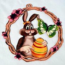 Fensterbild Ostern Frühling - Hasenmädchen mit