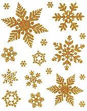 Fensterbild Set 18-teilig Schneeflocken