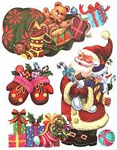 Fensterbild Set 3-teilig Weihnachtsmann Nikolaus