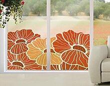 Fensterbild Sommermohn Blumen Wiese Herbst Sonne