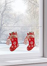 Fensterbild Stiefel (2er-Pack), rot (1