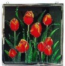 Fensterbild Tulpenknospen