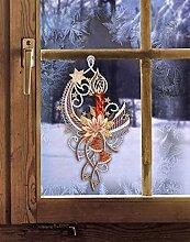 Fensterbild Weihnachten KERZE MIT STERNENSCHWEIF