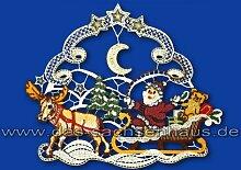 Fensterbild Weihnachtsmannschlitten aus Plauener