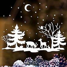 Fensterbild Zauberhafte Winter Landschaft mit