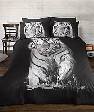 Fensterbild *Zoo Wilde Tiere Tiger Bettdecke King