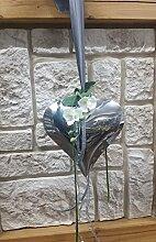 Fensterdeko Nr.15 Herz silber 22x20cm, Orchidee