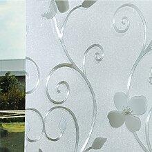 Fensterfolie aufkleber fenster papier statische elektrizität klebstoff windows und windows wärmedämmung sonnenschutz balkon toilette bad-A 50x200cm(20x79inch)