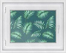 Fensterfolie - Fensterbild | hochwertige Fenster-deko - Folie für Fenster | dekorativer Fenstersticker - Fensteraufkleber | statisch haftende PVC-Sticker | Fensterfolie 70 x 50 cm - Palmel No.5