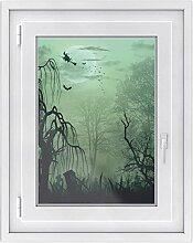 Fensterfolie - Fensterbild | hochwertige Fenster-deko - Folie für Fenster | dekorativer Fenstersticker - Fensteraufkleber | statisch haftende PVC-Sticker | Fensterfolie 50 x 70 cm - Witchcraf