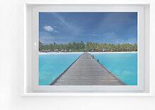 Fensterfolie - Fensterbild Karibik