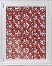 Fensterfolie   Hochwertiges Fenster-Bild - selbsthaftende Klebefolie für Fenster in Küche, Bad und Wohnzimmer   dekorative Sichtschutzfolie für Fenster   Fensterfolie 90 x 120 cm - Motiv Florale