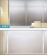 Fensterfolie Mattglasfolie Datenschutz Fenster Film Geeignet für alle Arten von glatten Glasoberfläche (50 X 400cm)