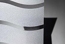Fensterfolie Wave Wellen 90 cm hoch - statische Dekorfolie Sichtschutz, Bitte Größe wählen:0.90m x 0.80 m