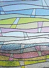 Fensterfolie Wellen bunt 70x46cm - Lineafix