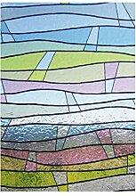 Fensterfolie Wellen bunt - statische Dekorfolie