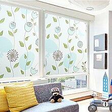 Fensterfolien, Junnom Fensterschutzfolie Dekorfolie Sichtschutzfolie No-Leim Farbdruck Fensterfolie Anti-UV