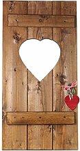 Fensterladen Herz Holz Dekoration Hochzeitsgeschenk Geldgeschenk Geschenkidee Shabby Stil Landhausstil braun von Feiner-Tropfen