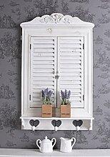 Fensterladen Spiegel Wandspiegel mit Türen