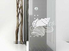 Fenstersticker, Dekorativ, mit Muschel-Design,