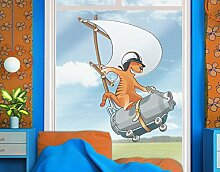 Fenstersticker Fliegender Bauernhof Katze mit