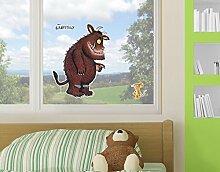 Fenstersticker Grüffelo Groß und Klein Kinder Zimmer Kinderbuch Monster Maus, Fenstersticker, Fensterfolie, Fenstertattoo, Fensterbild, Fenster-Deko, Fensteraufkleber, Fensterdekoration, Glas-Sticker