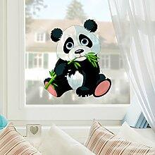 Fenstersticker Naschender Panda Kinderzimmer Bär Fenstersticker Fensterfolie Fenstertattoo Fensterbild Fenster-Deko Fensteraufkleber Fensterdekoration Glas-Sticker Größe: 45cm x 40cm