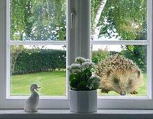Fenstersticker No.156 Kleiner Igel Tier Garten