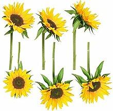 Fenstersticker No.193 Sonnenblumen Blume Pflanze sonne sommer wärme Fenstersticker Fensterfolie Fenstertattoo Fensterbild Fenster-Deko Fensteraufkleber Fensterdekoration Glas-Sticker Größe: 35cm x 35cm