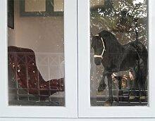 Fenstersticker No.276 Friesenstute Pferd reiten