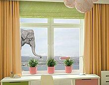Fenstersticker No.3 Elefant Fenster Tattoos Fensterdekoration Fensteraufkleber Fenstersticker Fensterfolie Fenstertattoo Fensterbild Fenster-Deko Fensteraufkleber Fensterdekoration Glas-Sticker Größe: 145cm x 103cm