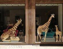 Fenstersticker No.317 Giraffenmutter und Baby Set