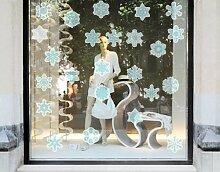 Fenstersticker No.323 Schneeflocken Set II
