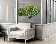 Fenstersticker No.441 Grüner Pfeil Pflanzen