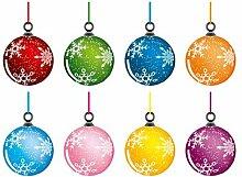 Fenstersticker No.485 Weihnachtskugeln Weihnachten