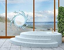Fenstersticker No.506 Wasserstrudel Badezimmer