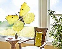 Fenstersticker No.512 Zitronenfalter Schmetterling Falter Insekten Garten Fenstersticker Fensterfolie Fenstertattoo Fensterbild Fenster-Deko Fensteraufkleber Fensterdekoration Glas-Sticker Größe: 30cm x 40cm