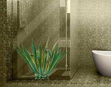 Fenstersticker No.606 Agave Agave Kaktus Wüste Pflanze Stacheln Agave Fenstersticker Fensterfolie Fenstertattoo Fensterbild Fenster-Deko Fensteraufkleber Fensterdekoration Glas-Sticker Größe: 60cm x 76cm