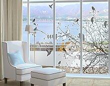 Fenstersticker No.741 Branches and Birds in Autumn Herbst Baum Vogel Zweig, Fenstersticker, Fensterfolie, Fenstertattoo, Fensterbild, Fenster-Deko, Fensteraufkleber, Fensterdekoration, Glas-Sticker